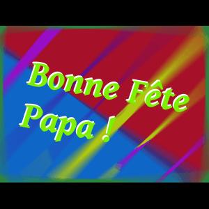"Carte à manger ""Bonne fête Papa"""