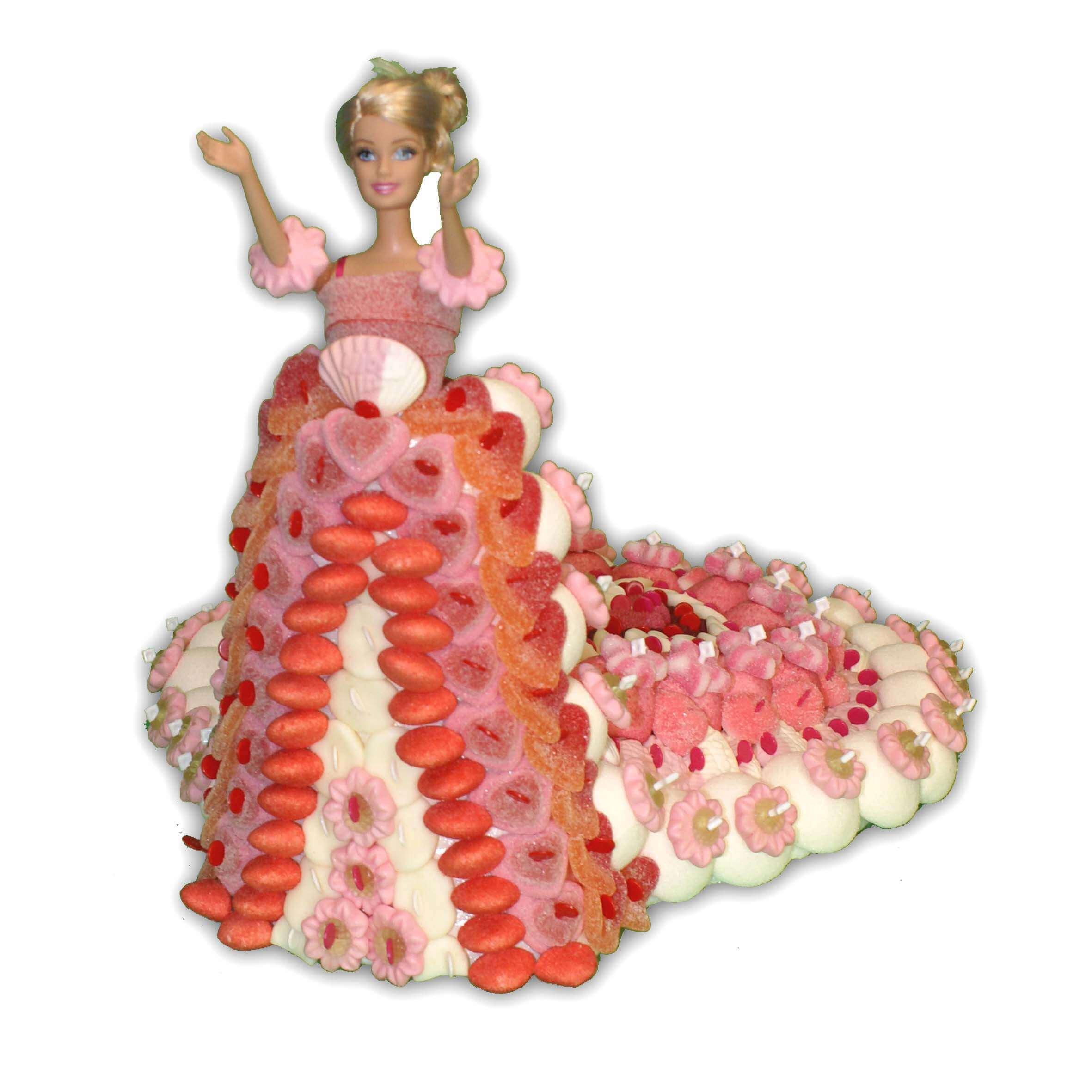 poupée en bonbons mariée