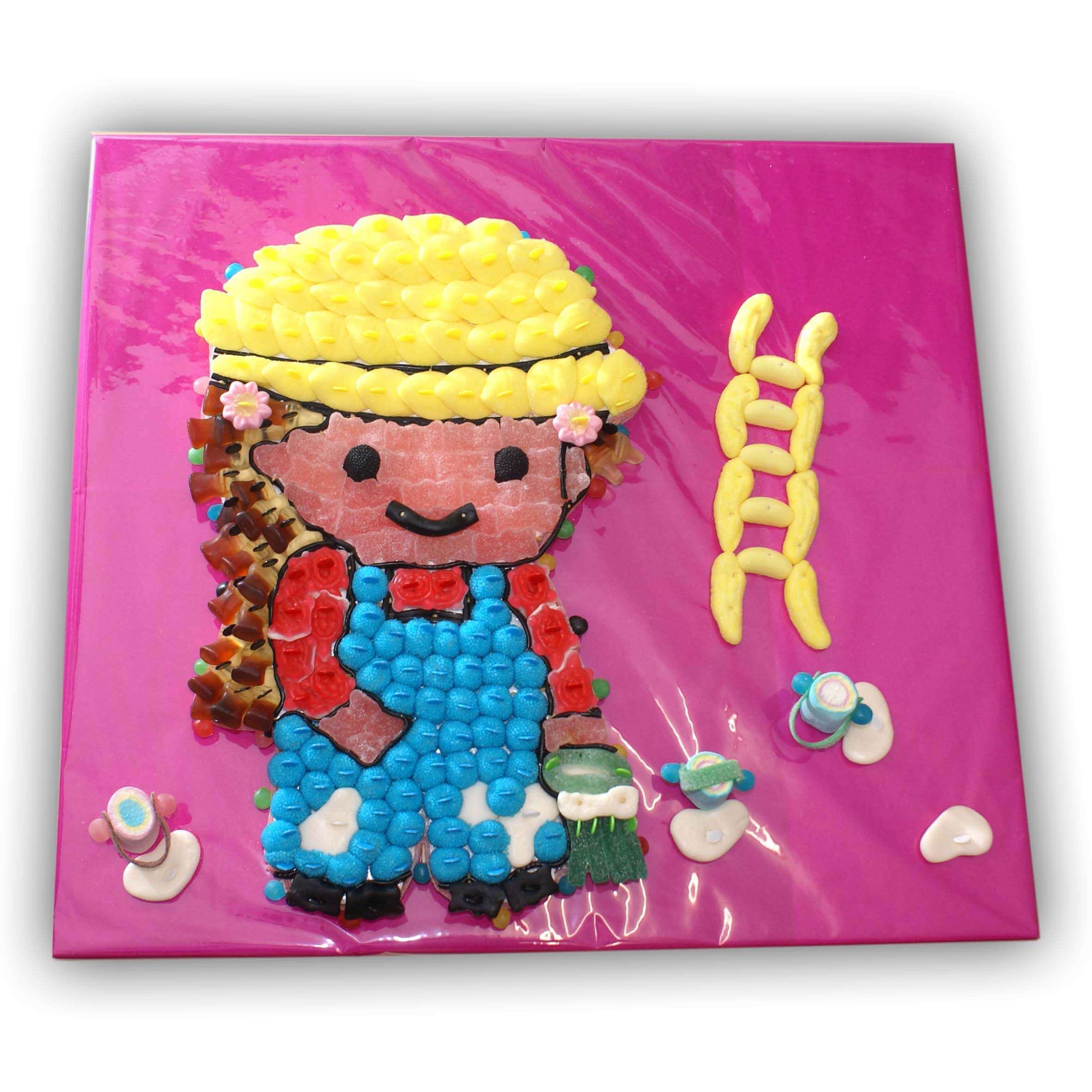 Peintre en bâtiment réalisé en bonbons