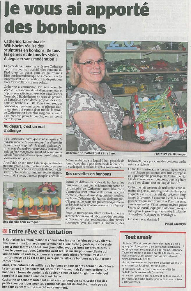 Article de l'Alsace Centrale