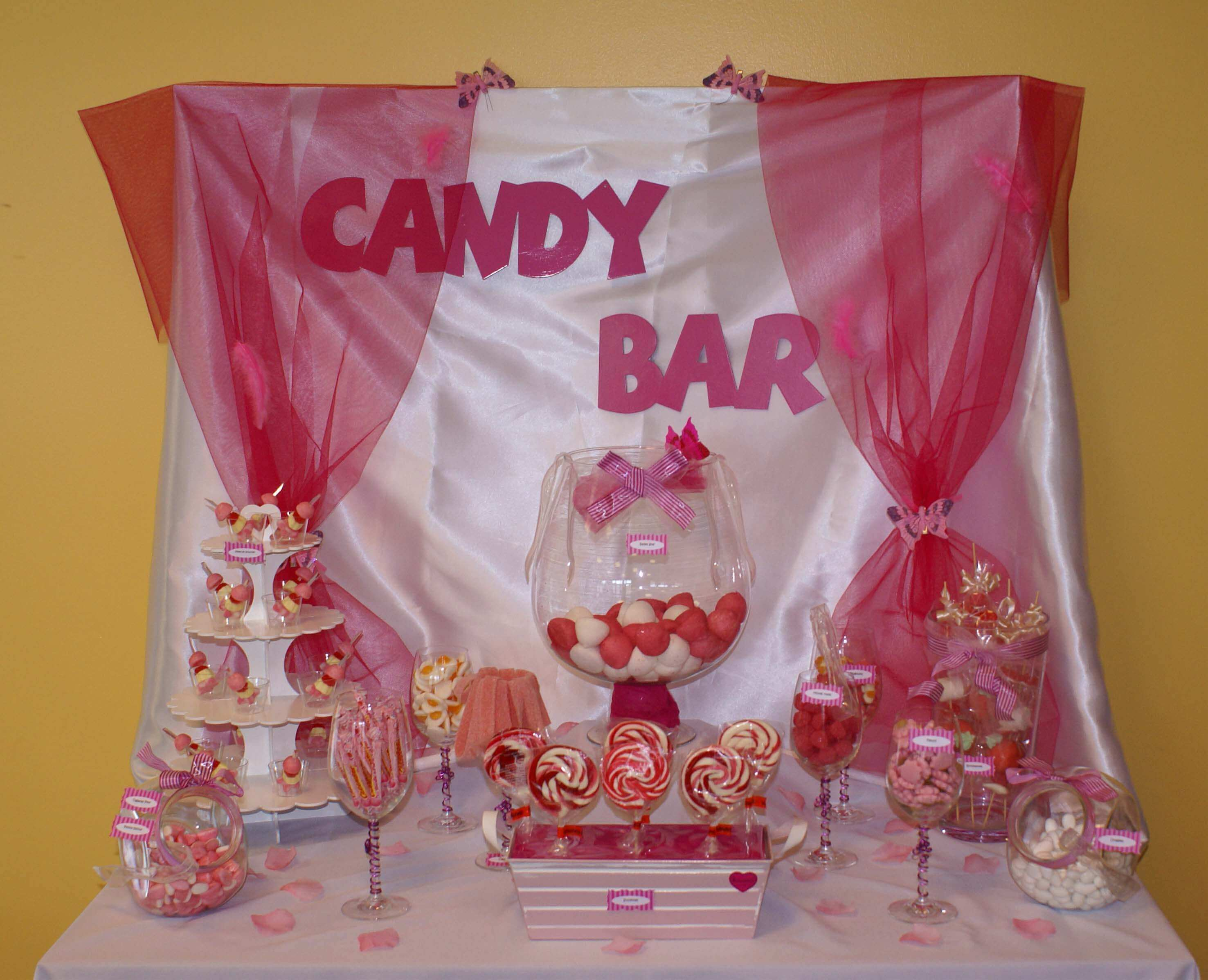 candy bar rose et blanc bonbons du ried. Black Bedroom Furniture Sets. Home Design Ideas