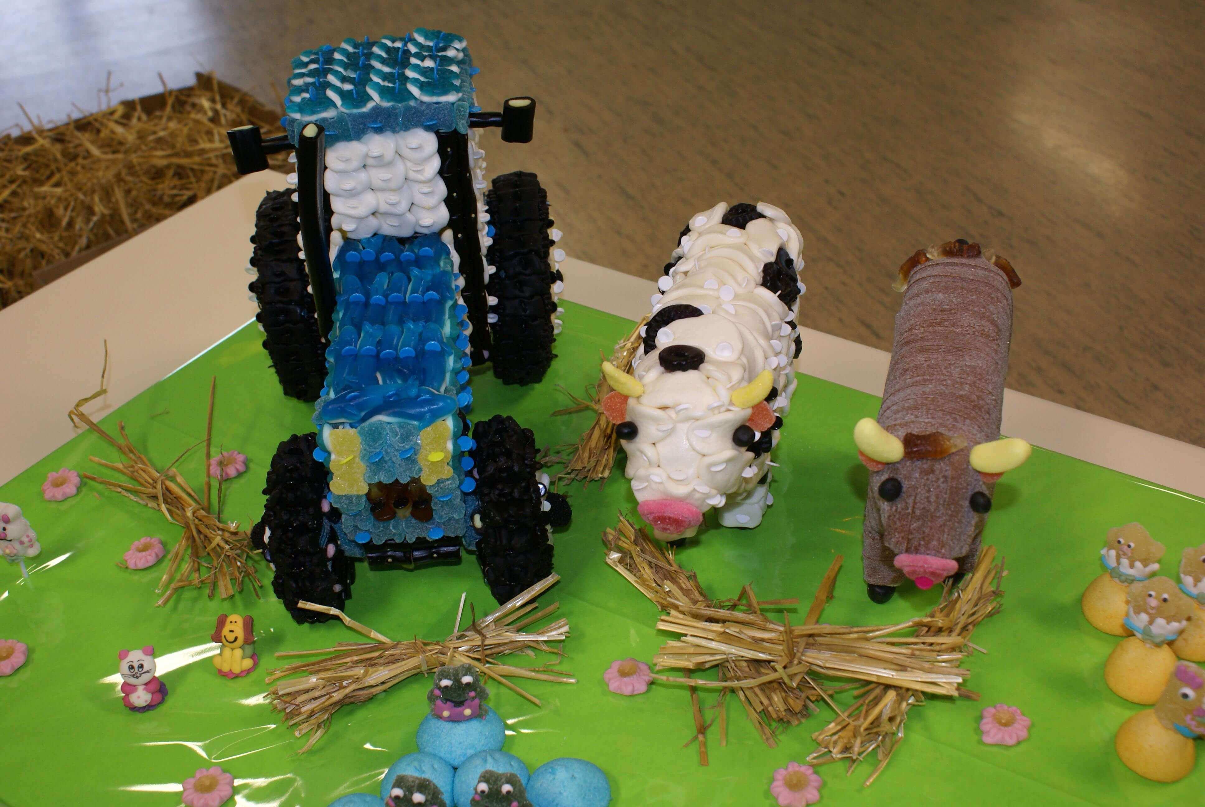 Plateau ferme en bonbons réalisée en 3D